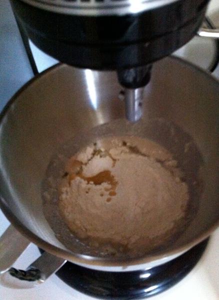 yeast in mixer