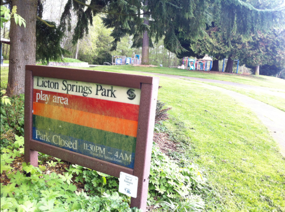 Licton springs sign