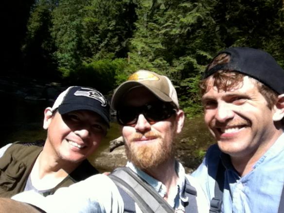 Guys fishing.